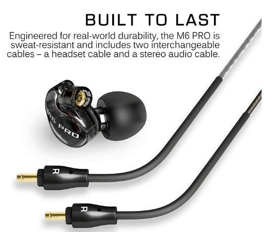 MEE audio M6 PRO build quality