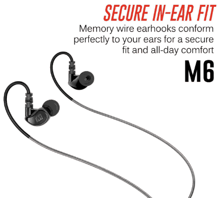 MEE audio Sport-Fi M6 earbuds secure fit