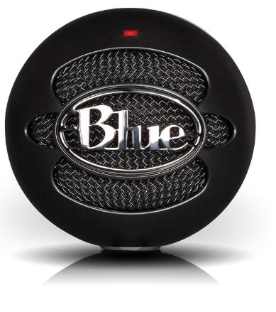 Blue snowball ice condenser microphone, cardioid black