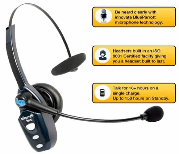 Blueparrott b250 xt bluetooth headset