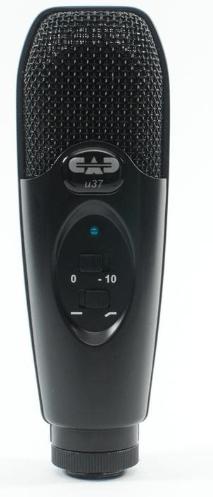Cad u37 usb studio condenser recording microphone black