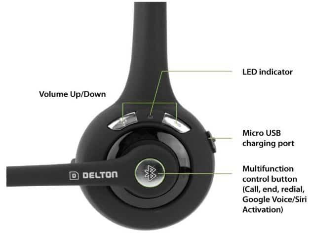 Delton wireless headset