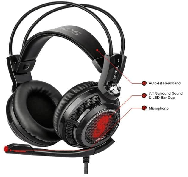Etekcity scroll gaming headset