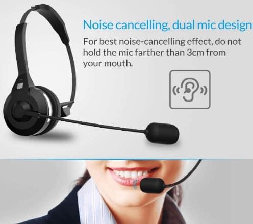 Frieq noise canceling wireless bluetooth headset