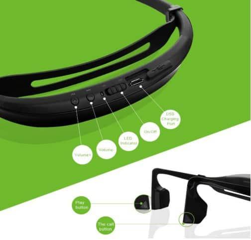 Kscat open ear bone conduction headphones bluetooth v4.1 earphones