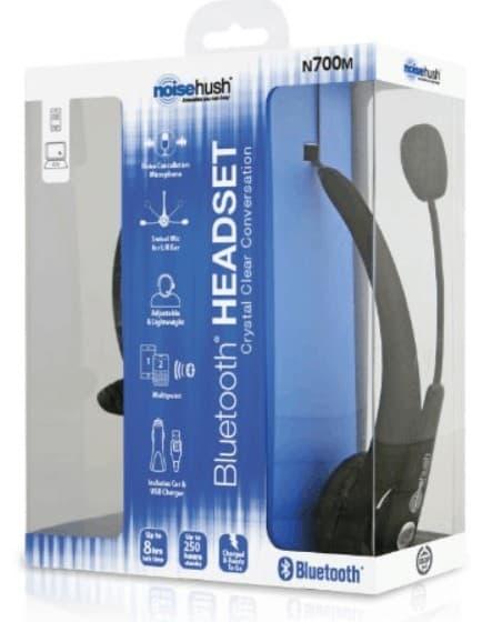 Noisehush bluetooth headset