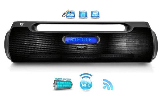 Pyle pbmspg50 street vibe bluetooth portable boom box speaker