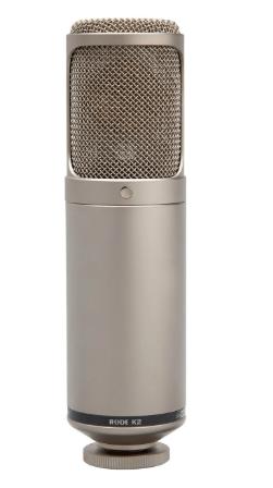 Rode k2 multi pattern dual condenser valve microphone