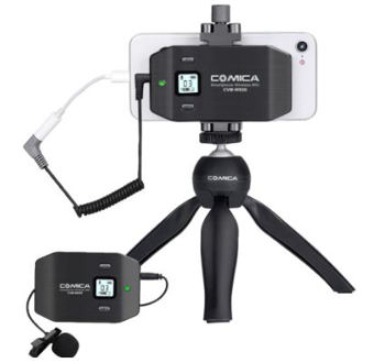Comica cvm ws50(c) wireless smart phone lavalier microphone system