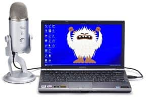 Usb microphone connected to computer