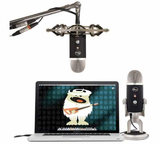 Blue Yeti Pro connected to laptop