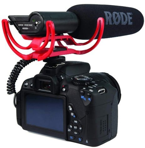 Rode VideoMic  connected with camera