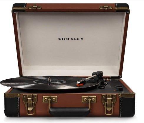 Crosley CR6019D-BR Executive Portable USB Turntable