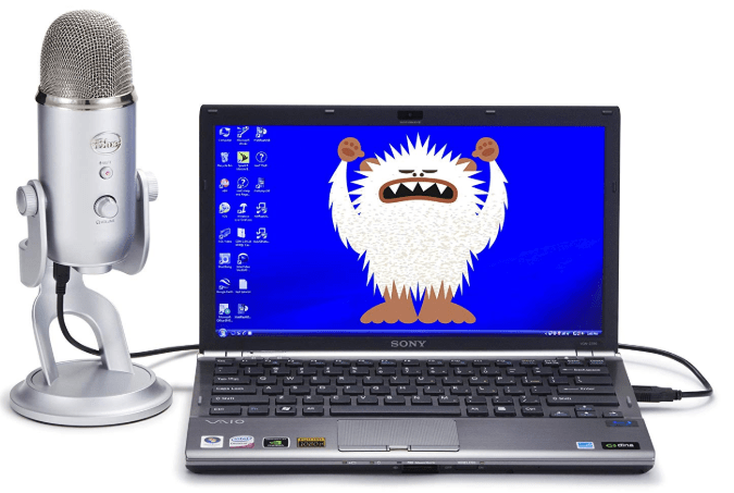 Blue Yeti connected to Laptop