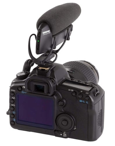 Shure VP83 attached to GoPro