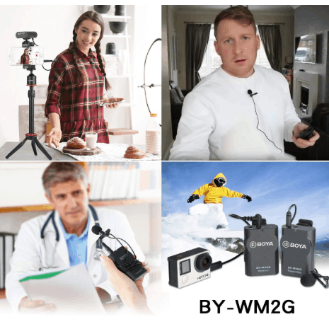 BOYA BY-WM2G multi purpose lav mic