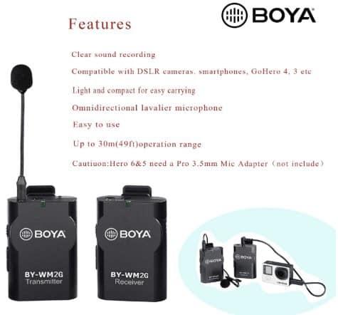 BOYA BY-WM2G Wireless Lavalier Microphone System