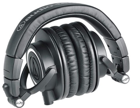 Foldable design of M50x headphones