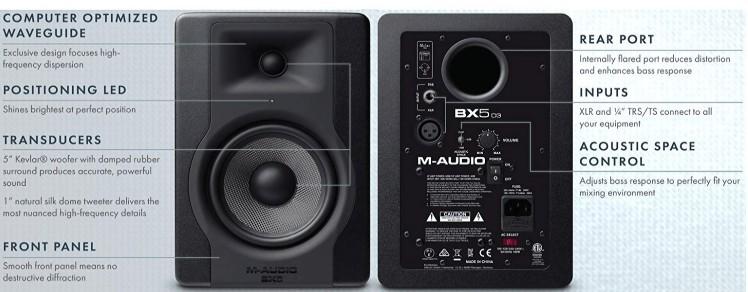 M-Audio BX5 D3 sound quality