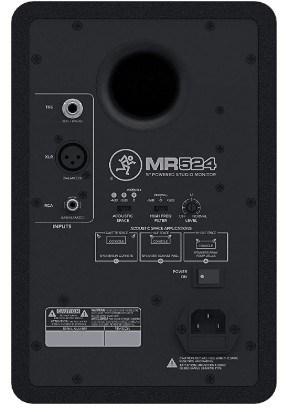 Mackie MR524 back view
