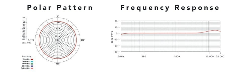 Polar pattern and Frequency response