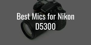 Best external mics for nikon d5300