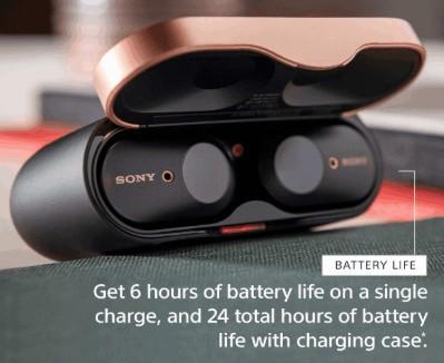 charging case of Sony WF-1000XM3