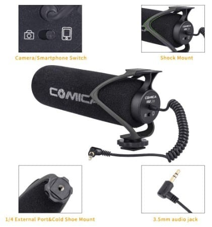 Comica CVM-V30 LITE mic accessories