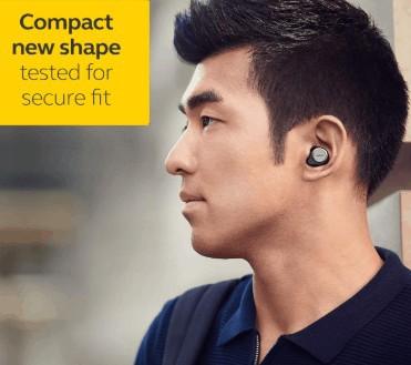 Secure fit of Jabra Elite 75t Earbuds