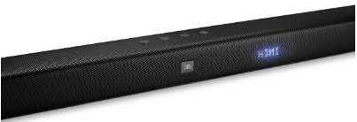 JBL Bar 2.1 control options on the soundbar
