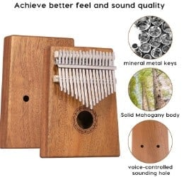 JDR 17 Keys kalimba build quality