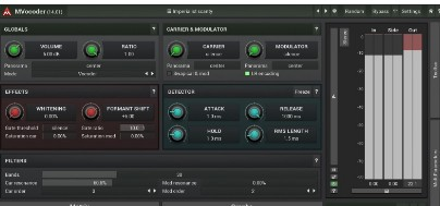 MVocoder plugin overview