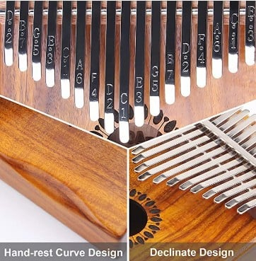 Newlam Kalimba Thumb Piano 17 keys build and design