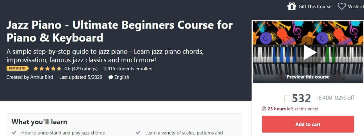 Jazz Piano - Ultimate Beginners Course for Piano & Keyboard