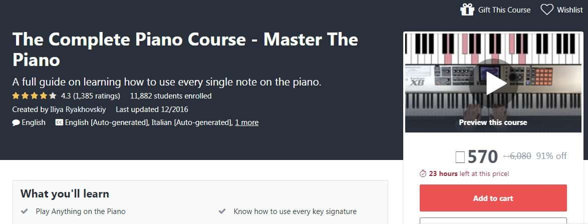 The Complete Piano Course - Master The Piano